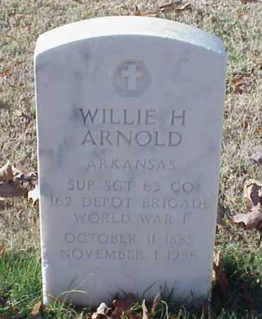 ARNOLD (VETERAN WWI), WILLIE H - Pulaski County, Arkansas | WILLIE H ARNOLD (VETERAN WWI) - Arkansas Gravestone Photos
