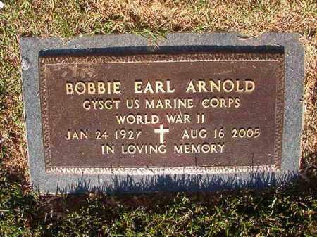 ARNOLD (VETERAN WWII), BOBBIE EARL - Pulaski County, Arkansas | BOBBIE EARL ARNOLD (VETERAN WWII) - Arkansas Gravestone Photos