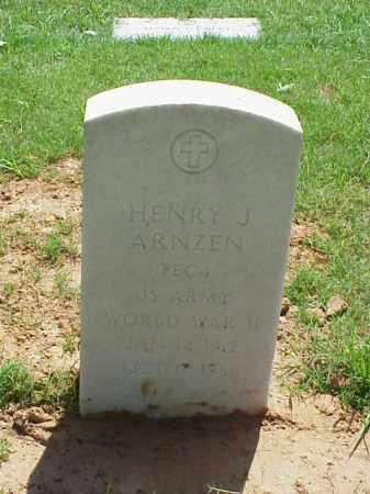 ARNZEN (VETERAN WWII), HENRY J - Pulaski County, Arkansas | HENRY J ARNZEN (VETERAN WWII) - Arkansas Gravestone Photos