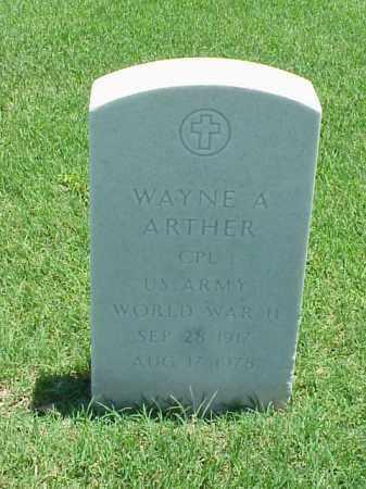 ARTHER (VETERAN WWII), WAYNE A - Pulaski County, Arkansas | WAYNE A ARTHER (VETERAN WWII) - Arkansas Gravestone Photos
