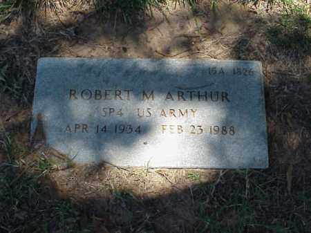 ARTHUR (VETERAN), ROBERT M - Pulaski County, Arkansas | ROBERT M ARTHUR (VETERAN) - Arkansas Gravestone Photos
