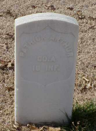 ARTHUR (VETERAN UNION), PATRICK - Pulaski County, Arkansas | PATRICK ARTHUR (VETERAN UNION) - Arkansas Gravestone Photos