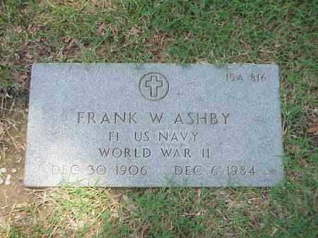 ASHBY (VETERAN WWII), FRANK W - Pulaski County, Arkansas | FRANK W ASHBY (VETERAN WWII) - Arkansas Gravestone Photos