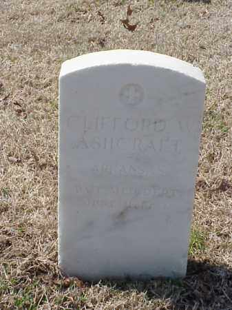 ASHCRAFT (VETERAN WWI), CLIFFORD W - Pulaski County, Arkansas | CLIFFORD W ASHCRAFT (VETERAN WWI) - Arkansas Gravestone Photos