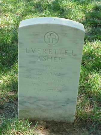ASHER (VETERAN WWII), EVERETTE L - Pulaski County, Arkansas | EVERETTE L ASHER (VETERAN WWII) - Arkansas Gravestone Photos