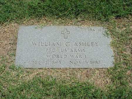 ASHLEY (VETERAN WWI), WILLIAM G - Pulaski County, Arkansas | WILLIAM G ASHLEY (VETERAN WWI) - Arkansas Gravestone Photos