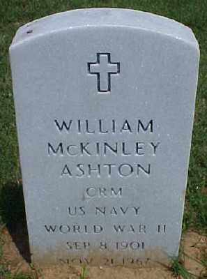 ASHTON (VETERAN WWII), WILLIAM MCKINLEY - Pulaski County, Arkansas | WILLIAM MCKINLEY ASHTON (VETERAN WWII) - Arkansas Gravestone Photos