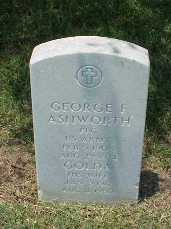 ASHWORTH (VETERAN WWII), GEORGE F - Pulaski County, Arkansas | GEORGE F ASHWORTH (VETERAN WWII) - Arkansas Gravestone Photos