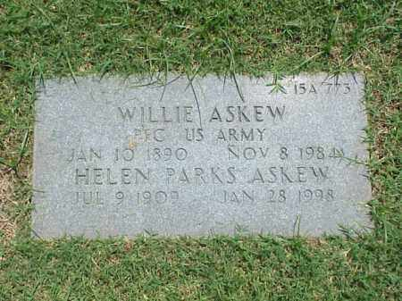 ASKEW (VETERAN WWI), WILLIE - Pulaski County, Arkansas | WILLIE ASKEW (VETERAN WWI) - Arkansas Gravestone Photos
