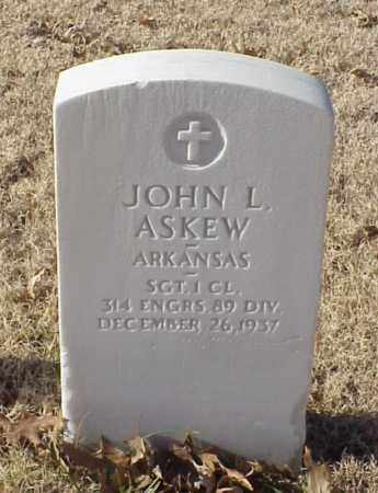 ASKEW (VETERAN WWI), JOHN L - Pulaski County, Arkansas | JOHN L ASKEW (VETERAN WWI) - Arkansas Gravestone Photos