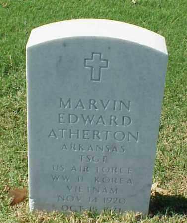 ATHERTON (VETERAN 3WARS), MARVIN EDWARD - Pulaski County, Arkansas | MARVIN EDWARD ATHERTON (VETERAN 3WARS) - Arkansas Gravestone Photos