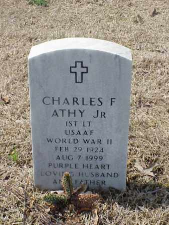 ATHY, JR (VETERAN WWII), CHARLES F - Pulaski County, Arkansas | CHARLES F ATHY, JR (VETERAN WWII) - Arkansas Gravestone Photos