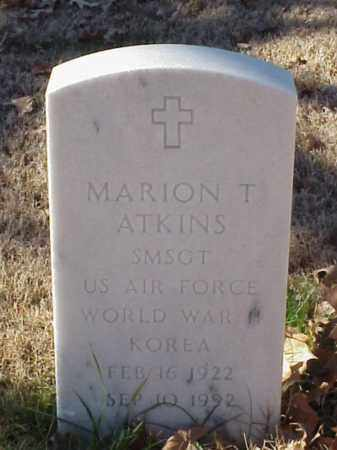 ATKINS (VETERAN 2WARS), MARION T - Pulaski County, Arkansas | MARION T ATKINS (VETERAN 2WARS) - Arkansas Gravestone Photos