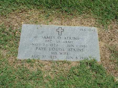 ATKINS, FAYE LOUISE - Pulaski County, Arkansas | FAYE LOUISE ATKINS - Arkansas Gravestone Photos