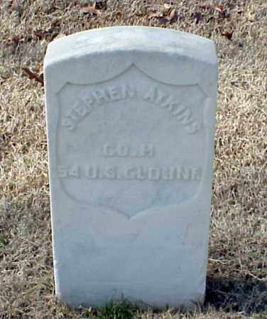 ATKINS (VETERAN UNION), STEPHEN - Pulaski County, Arkansas | STEPHEN ATKINS (VETERAN UNION) - Arkansas Gravestone Photos