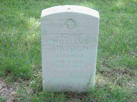 ATKINSON (VETERAN WWII), JOHN WILLIAMS - Pulaski County, Arkansas | JOHN WILLIAMS ATKINSON (VETERAN WWII) - Arkansas Gravestone Photos