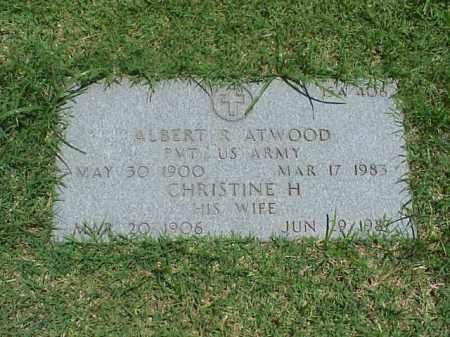 ATWOOD (VETERAN WWI), ALBERT R - Pulaski County, Arkansas | ALBERT R ATWOOD (VETERAN WWI) - Arkansas Gravestone Photos
