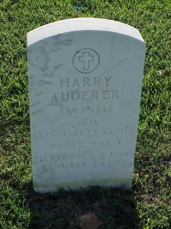 AUDERER (VETERAN WWI), HARRY - Pulaski County, Arkansas | HARRY AUDERER (VETERAN WWI) - Arkansas Gravestone Photos
