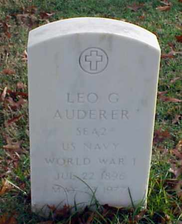 AUDERER (VETERAN WWI), LEO G - Pulaski County, Arkansas | LEO G AUDERER (VETERAN WWI) - Arkansas Gravestone Photos