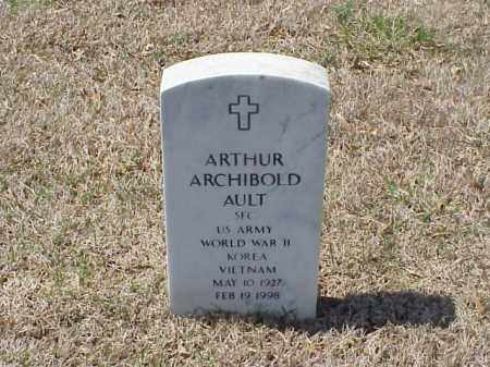 AULT (VETERAN 3WARS), ARTHUR ARCHIBALD - Pulaski County, Arkansas | ARTHUR ARCHIBALD AULT (VETERAN 3WARS) - Arkansas Gravestone Photos