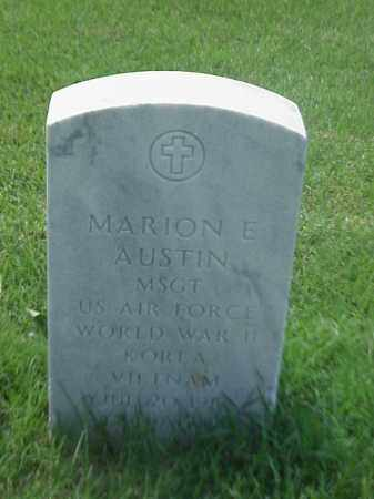 AUSTIN (VETERAN 3WARS), MARION E - Pulaski County, Arkansas | MARION E AUSTIN (VETERAN 3WARS) - Arkansas Gravestone Photos
