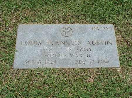 AUSTIN (VETERAN WWII), LOUIS FRANKLIN - Pulaski County, Arkansas | LOUIS FRANKLIN AUSTIN (VETERAN WWII) - Arkansas Gravestone Photos
