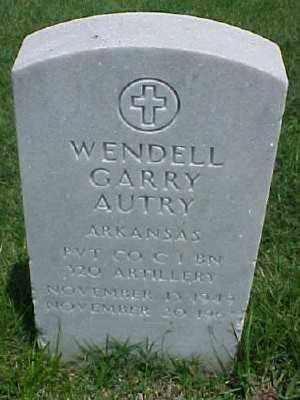 AUTRY (VETERAN), WENDELL GARRY - Pulaski County, Arkansas | WENDELL GARRY AUTRY (VETERAN) - Arkansas Gravestone Photos