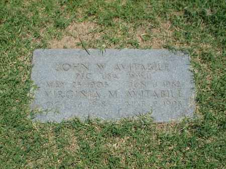 AVITABILE (VETERAN WWII), JOHN W - Pulaski County, Arkansas | JOHN W AVITABILE (VETERAN WWII) - Arkansas Gravestone Photos
