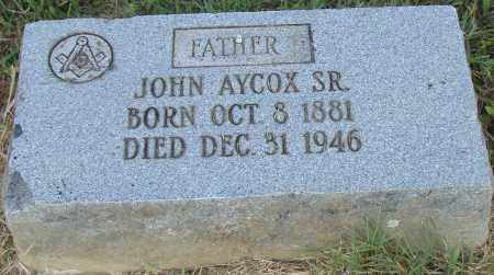 AYCOX, SR., JOHN - Pulaski County, Arkansas | JOHN AYCOX, SR. - Arkansas Gravestone Photos