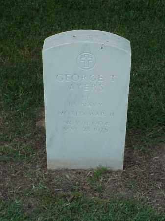 AYERS (VETERAN WWII), GEORGE T - Pulaski County, Arkansas | GEORGE T AYERS (VETERAN WWII) - Arkansas Gravestone Photos
