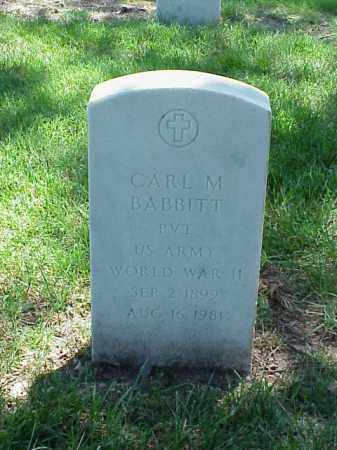 BABBITT (VETERAN WWII), CARL M - Pulaski County, Arkansas | CARL M BABBITT (VETERAN WWII) - Arkansas Gravestone Photos
