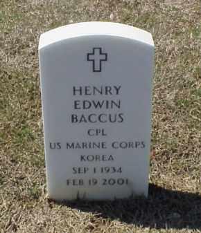 BACCUS (VETERAN KOR), HENRY EDWIN - Pulaski County, Arkansas | HENRY EDWIN BACCUS (VETERAN KOR) - Arkansas Gravestone Photos