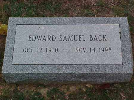 BACK, EDWARD SAMUEL - Pulaski County, Arkansas | EDWARD SAMUEL BACK - Arkansas Gravestone Photos
