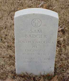 BADGER  (VETERAN WWI), SAM - Pulaski County, Arkansas | SAM BADGER  (VETERAN WWI) - Arkansas Gravestone Photos