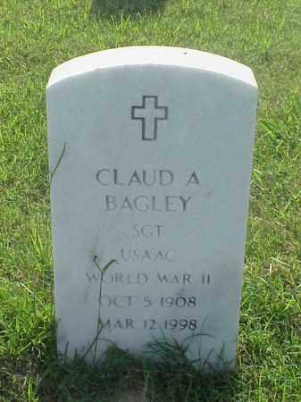 BAGLEY (VETERAN WWII), CLAUD A - Pulaski County, Arkansas | CLAUD A BAGLEY (VETERAN WWII) - Arkansas Gravestone Photos