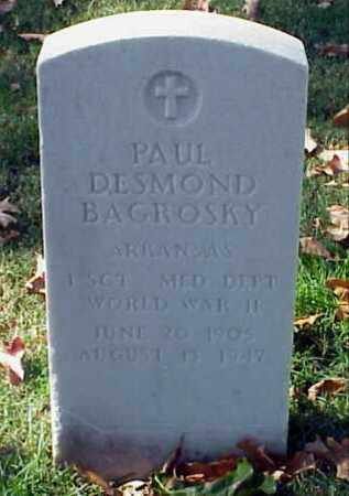 BAGROSKY (VETERAN WWII), PAUL DESMOND - Pulaski County, Arkansas | PAUL DESMOND BAGROSKY (VETERAN WWII) - Arkansas Gravestone Photos
