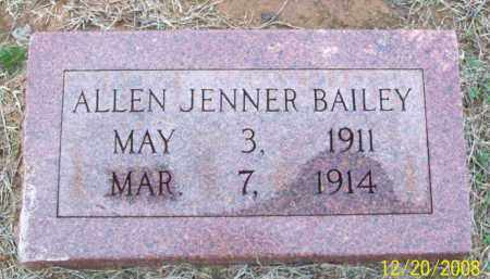 BAILEY, ALLEN JENNER - Pulaski County, Arkansas | ALLEN JENNER BAILEY - Arkansas Gravestone Photos