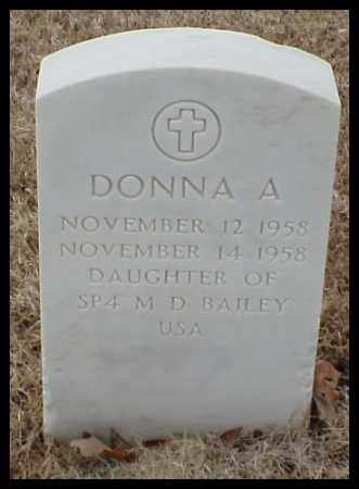 BAILEY, DONNA A - Pulaski County, Arkansas | DONNA A BAILEY - Arkansas Gravestone Photos