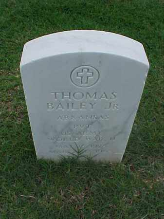 BAILEY, JR (VETERAN WWII), THOMAS - Pulaski County, Arkansas | THOMAS BAILEY, JR (VETERAN WWII) - Arkansas Gravestone Photos