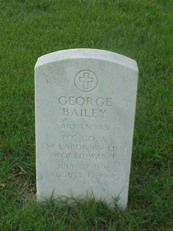 BAILEY (VETERAN WWI), GEORGE - Pulaski County, Arkansas | GEORGE BAILEY (VETERAN WWI) - Arkansas Gravestone Photos