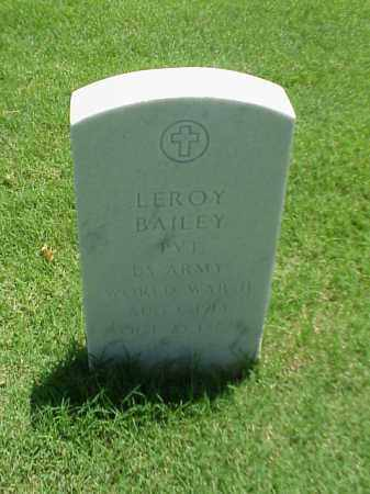 BAILEY (VETERAN WWII), LEROY - Pulaski County, Arkansas | LEROY BAILEY (VETERAN WWII) - Arkansas Gravestone Photos