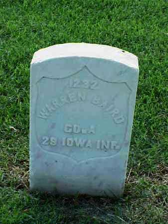 BAIRD (VETERAN UNION), WARREN - Pulaski County, Arkansas | WARREN BAIRD (VETERAN UNION) - Arkansas Gravestone Photos