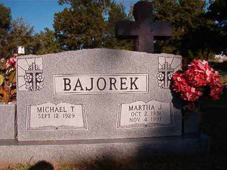 BAJOREK, MARTHA J - Pulaski County, Arkansas | MARTHA J BAJOREK - Arkansas Gravestone Photos