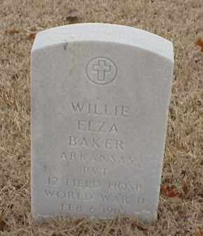 BAKER  (VETERAN WWII), WILLIE ELZA - Pulaski County, Arkansas | WILLIE ELZA BAKER  (VETERAN WWII) - Arkansas Gravestone Photos