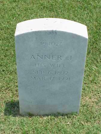 BAKER, ANNER J - Pulaski County, Arkansas | ANNER J BAKER - Arkansas Gravestone Photos