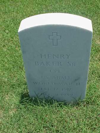 BAKER, SR (VETERAN WWII), HENRY - Pulaski County, Arkansas | HENRY BAKER, SR (VETERAN WWII) - Arkansas Gravestone Photos