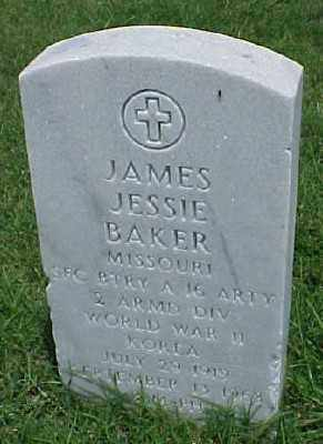 BAKER (VETERAN 2WARS), JAMES JESSIE - Pulaski County, Arkansas | JAMES JESSIE BAKER (VETERAN 2WARS) - Arkansas Gravestone Photos