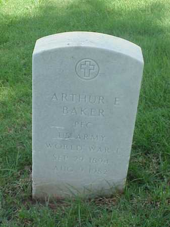 BAKER (VETERAN WWI), ARTHUR E - Pulaski County, Arkansas | ARTHUR E BAKER (VETERAN WWI) - Arkansas Gravestone Photos