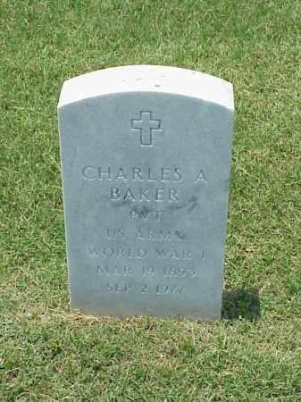 BAKER (VETERAN WWI), CHARLES A - Pulaski County, Arkansas | CHARLES A BAKER (VETERAN WWI) - Arkansas Gravestone Photos