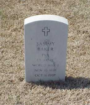 BAKER (VETERAN WWI), SAMMY - Pulaski County, Arkansas | SAMMY BAKER (VETERAN WWI) - Arkansas Gravestone Photos
